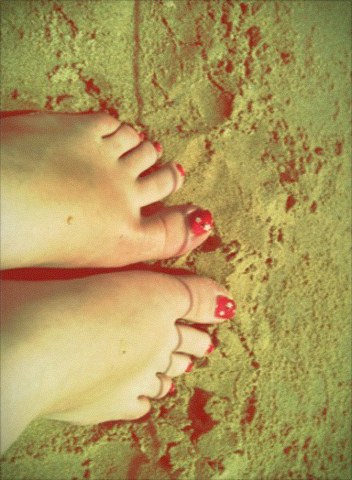 Put you're feet in the sand!